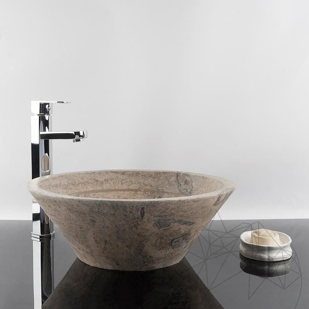 Bathroom Sink Silver Travertine Rs 8 41 5 X 15 Cm Piatraonline Com