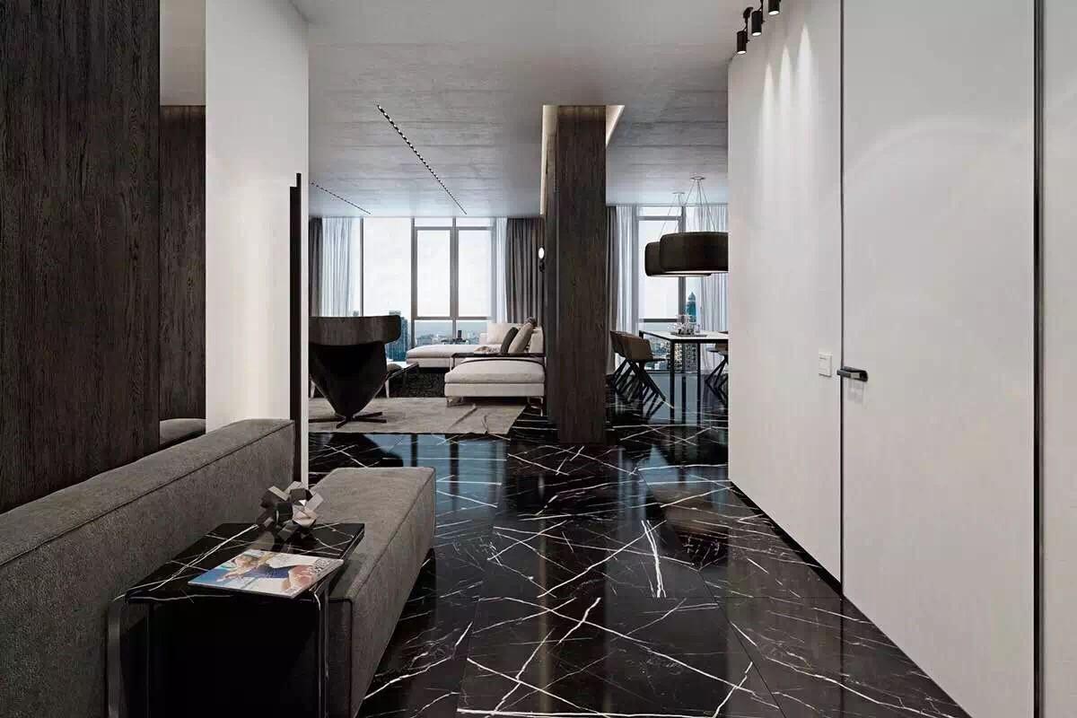 The sumptuous Nero Marquina marble - PIATRAONLINE.com