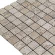 Latte Travertine Tumbled Mosaic 2.3 x 2.3 cm 0