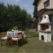 Garden Barbeque 'Small' with polygonal flagstone 1