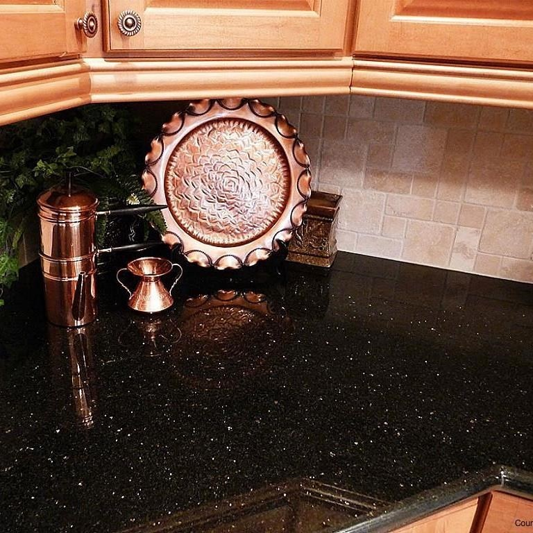 Black Galaxy Granite Kitchen: Black Galaxy Granite Polished Countertop 250 X 65 X 3 Cm