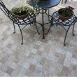 Classic Cross Cut Travertine Tumbled Cobblestone 10 x 10 x 3.2 cm (Pavers) 5
