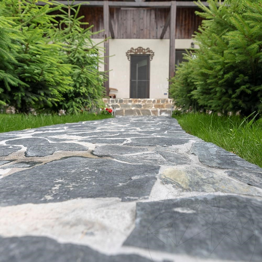 Laguna Green Polygonal Slate - Patio flagstone slabs