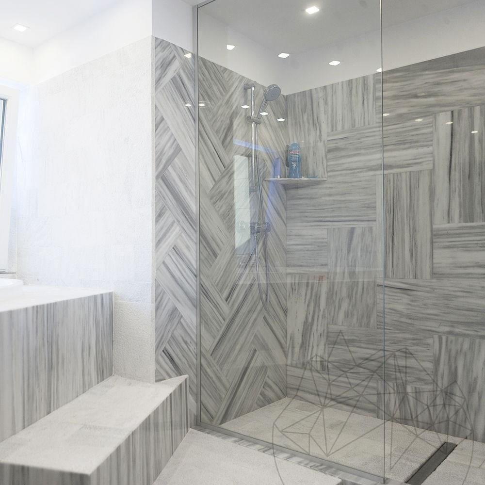 Kavala Vein Cut Polished Marble 60 x 30 x 1 cm