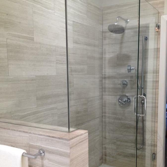 White Wood Polished Marble 61 x 30.5 x 1 cm