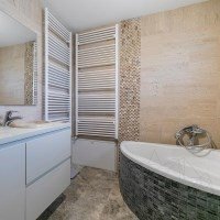 Classic Wave Cut Brushed Travertine 61 x 30.5 x 1.2 cm