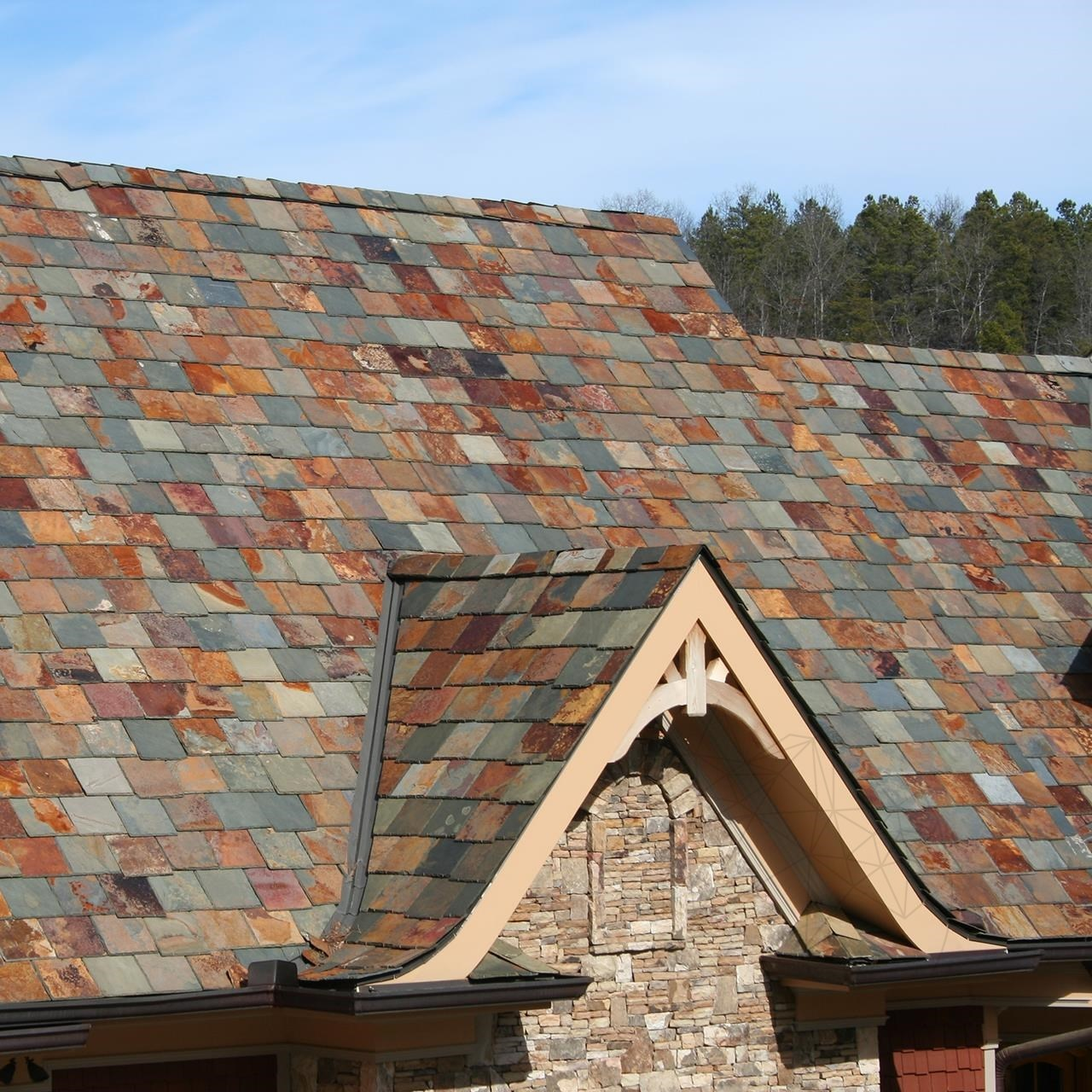 Multicolored Riven & Chiseled Edge Slate 15 x 30 cm - (Roof & Claddings)