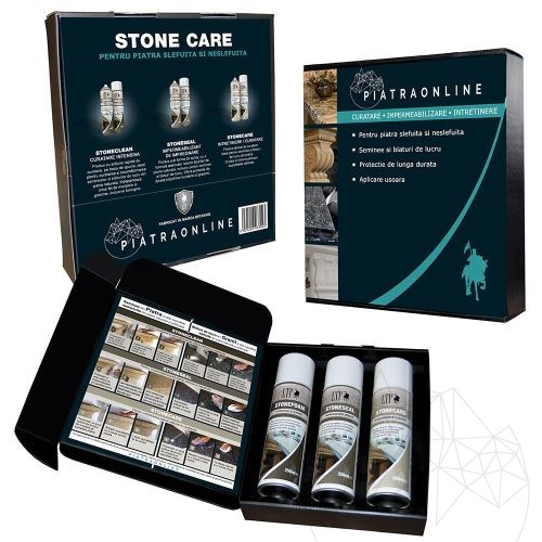 LTP Stone Care Kit - All in one care kit for stone fireplaces and worktops (cleans, seals and maintains)
