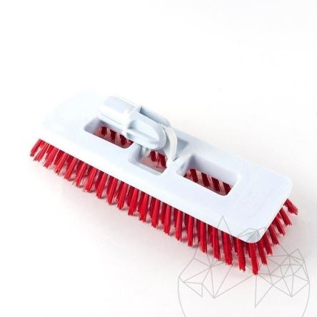 LTP Exterior Deck Red Brush - Multi-directional stiff bristled professional  brush (terraces, alleys and exterior pavings)
