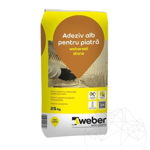 Weber Set Stone 25 KG - Floor & wall natural stone white adhesive