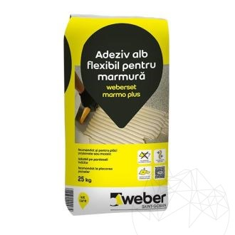 Weber Set Marmo Plus 25 KG - Floor & wall profesional white adhesive (marble / granite)