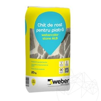 Weber Color Stone White 20 KG - Natural stone flexible wall & floor wide joint grout