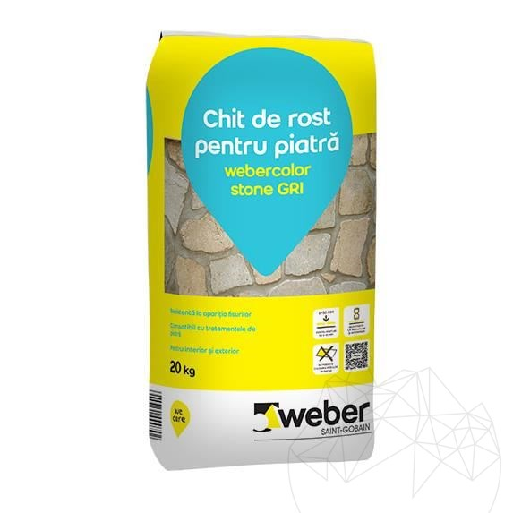 Weber Color Stone Grey 20 KG - Natural stone flexible wall & floor wide joint grout