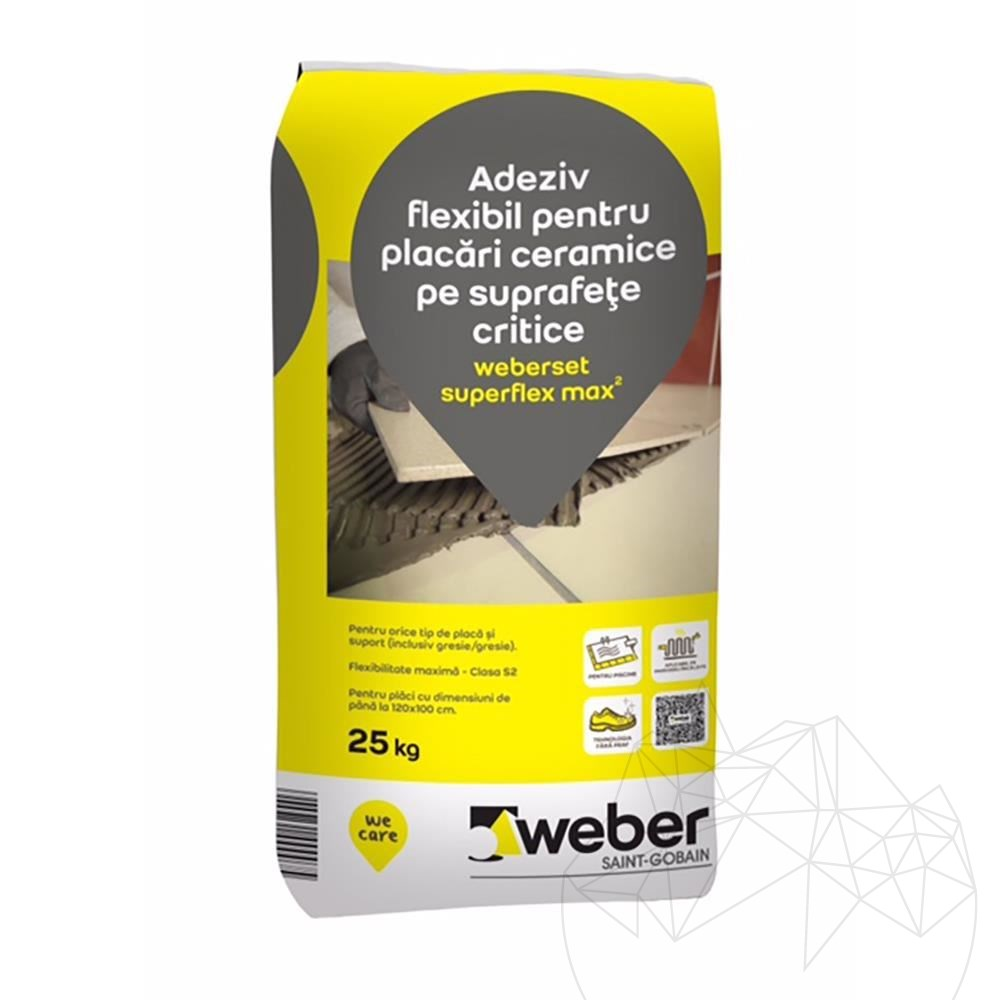 Weber Set Superflex Max² 25 KG - Floor & wall grey profesional adhesive