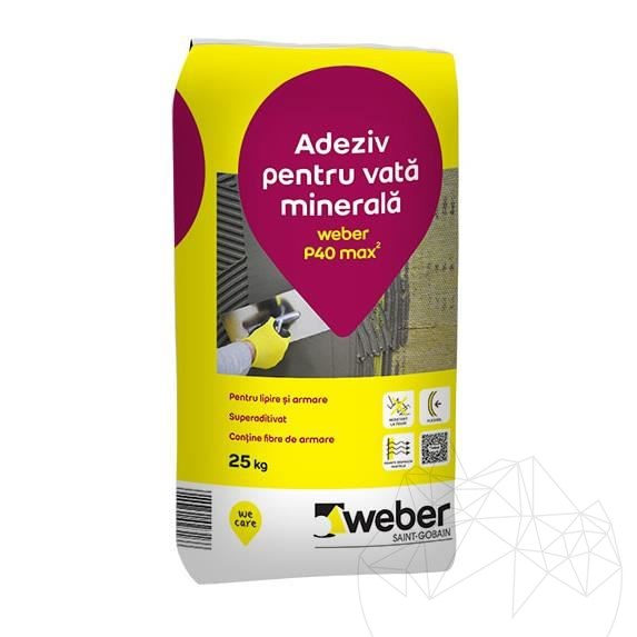 Weber P40 Max² 25 KG - Polystyrene insulating systems adhesive