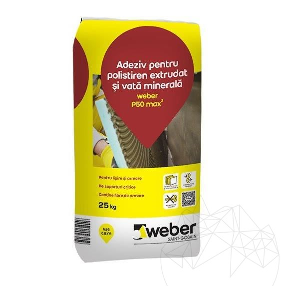 Weber P50 25 KG - Flexible white adhesive for insulating systems title=Weber P50 25 KG - Flexible white adhesive for insulating systems