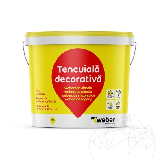 Weber Pas Silicate 25 KG - Decorative silicate plaster Group 1