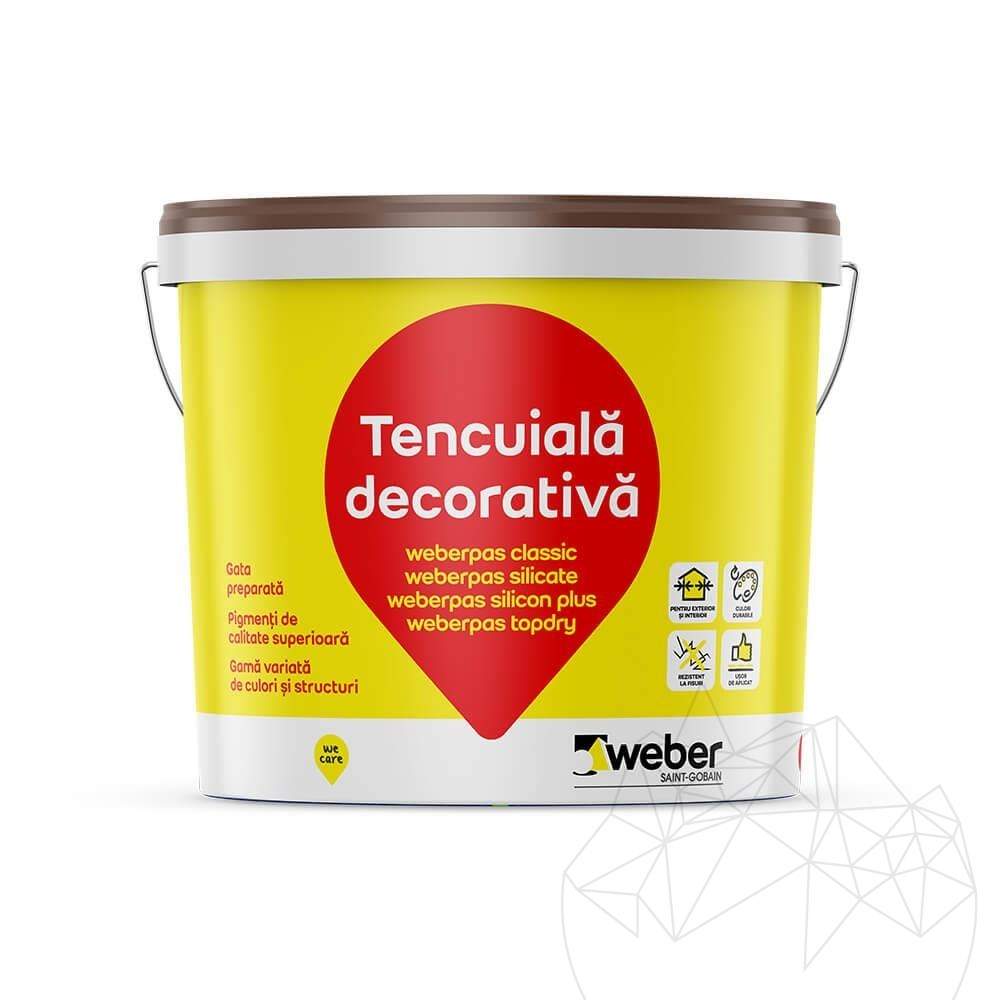 Weber Pas Topdry 25 KG - Ultra permeable decorative plaster