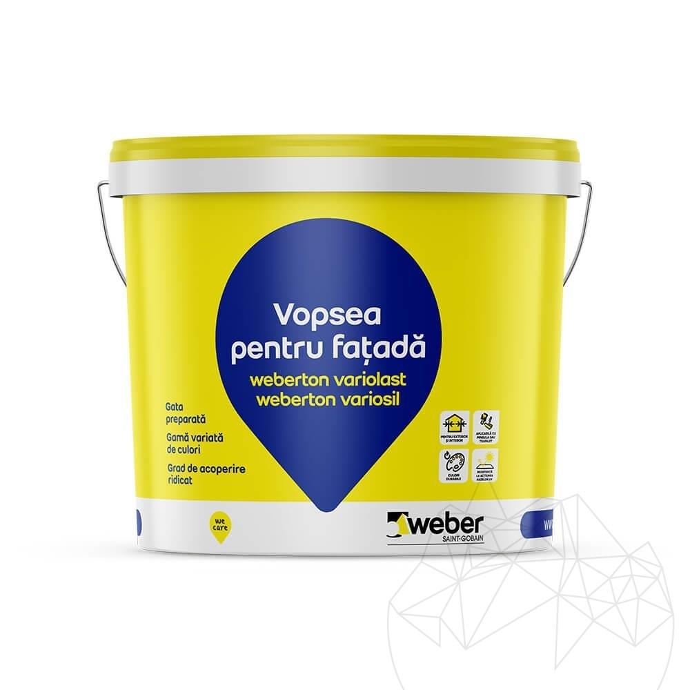 Weber Ton Variosil 25 KG - Profesional silicate exterior wall paint