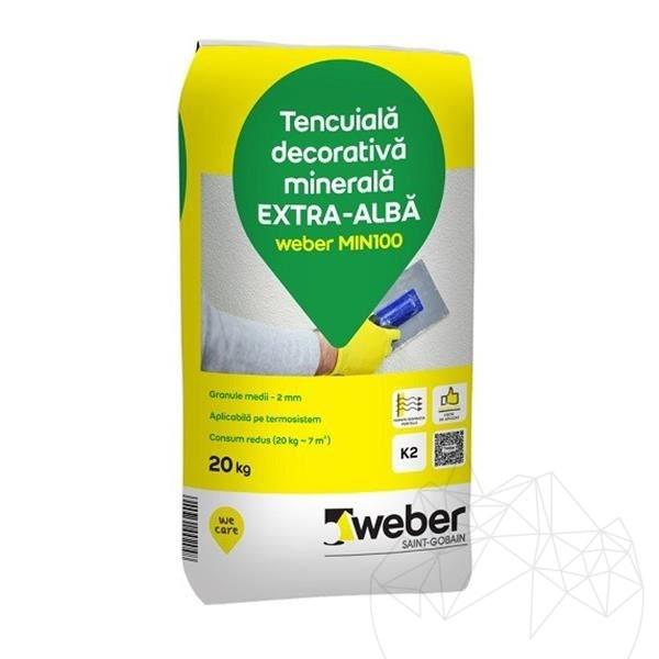 Weber MIN100 20 KG - Decorative mineral plaster