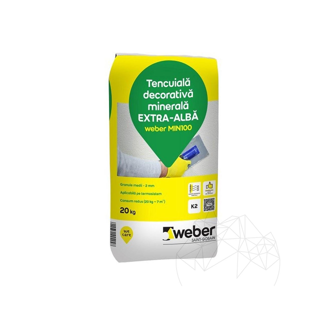 Tencuiala decorativa minerala - Weber MIN100 - K 2 - 20 KG