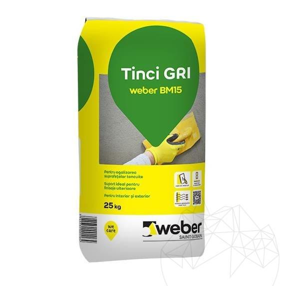 Weber BM15 25 KG - Fine grey wall plaster
