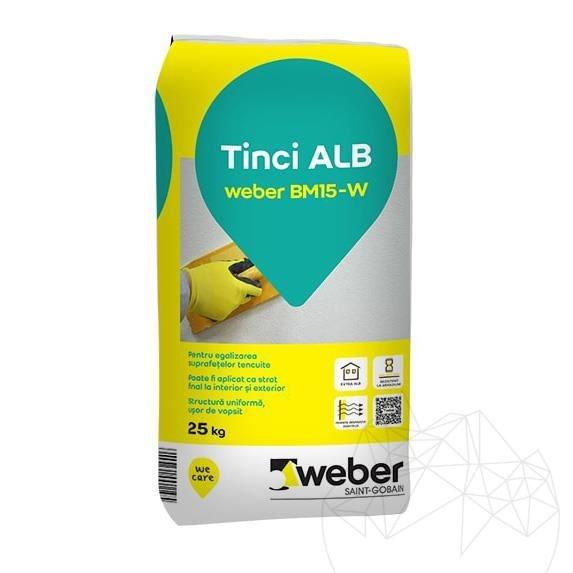 Weber BM15 - W - 25 KG - Fine white wall plaster