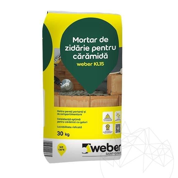 Weber KL15 30 KG - Brickwork grey mortar