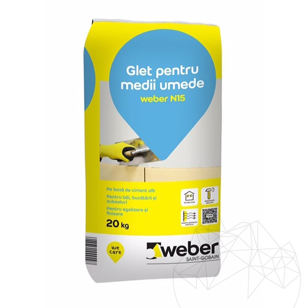 Weber N15 20 KG - Super white cement based plaster equalization title=Weber N15 20 KG - Super white cement based plaster equalization