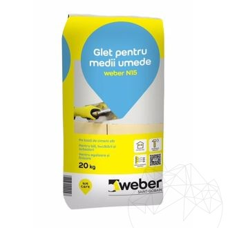 Weber N15 20 KG - Super white cement based plaster equalization