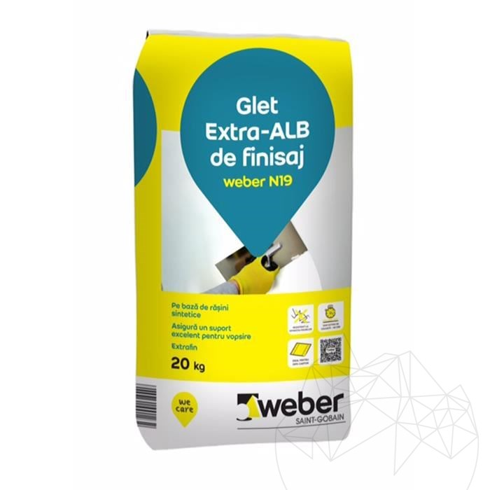 Weber N19 20 KG - Resin based wall finishing putty title=Weber N19 20 KG - Resin based wall finishing putty