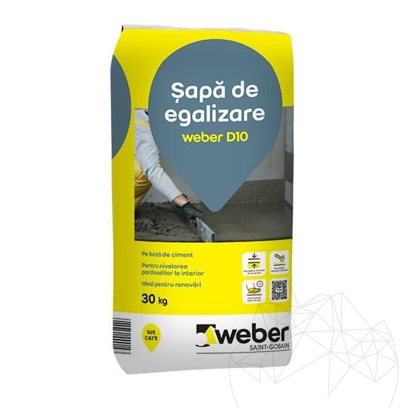 Weber D10 30 KG - Equalizing screed