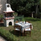 Garden Barbeque 'Small' with polygonal flagstone