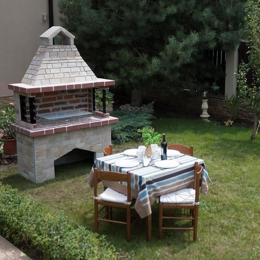 Garden Barbeque Big with spliface stone