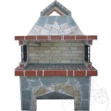 Garden Barbeque & Grill System 'Big' with polygonal flagstone