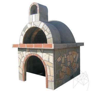 Garden Oven with polygonal flagstone