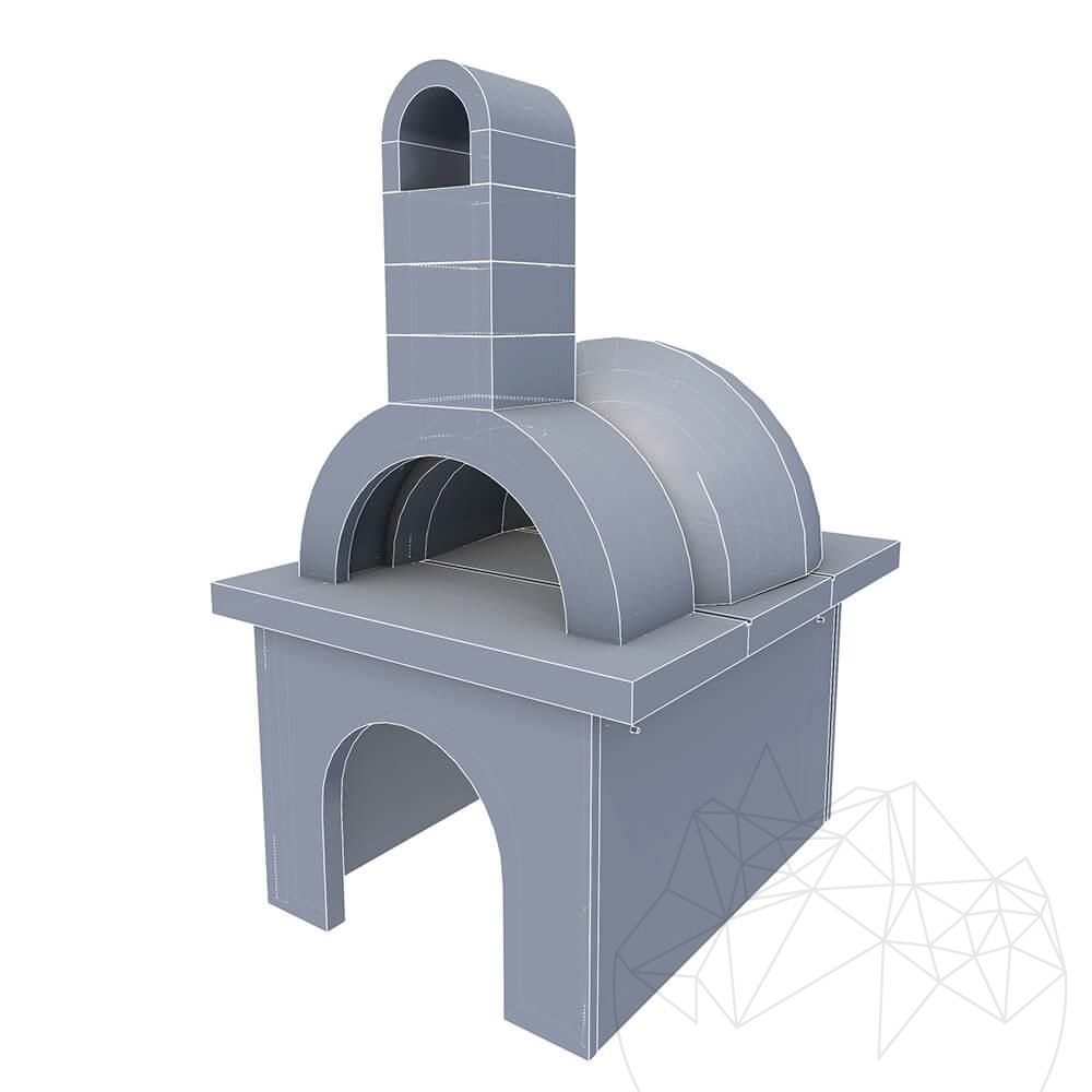 Garden Oven with decorative splitface title=Garden Oven with decorative splitface