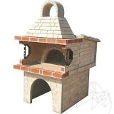 Garden Barbeque & Oven with splitface stone