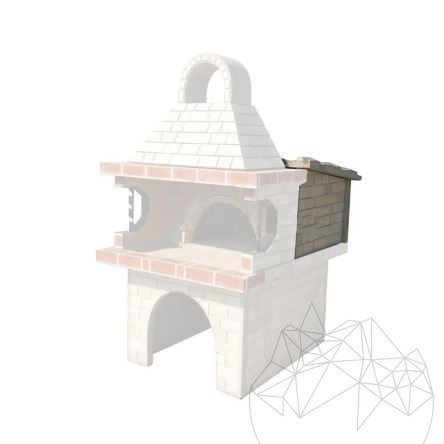 Roof for garden barbeque with oven (120/95/70)