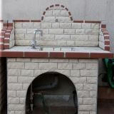Barbeque Table & Washbasin with splitface stone