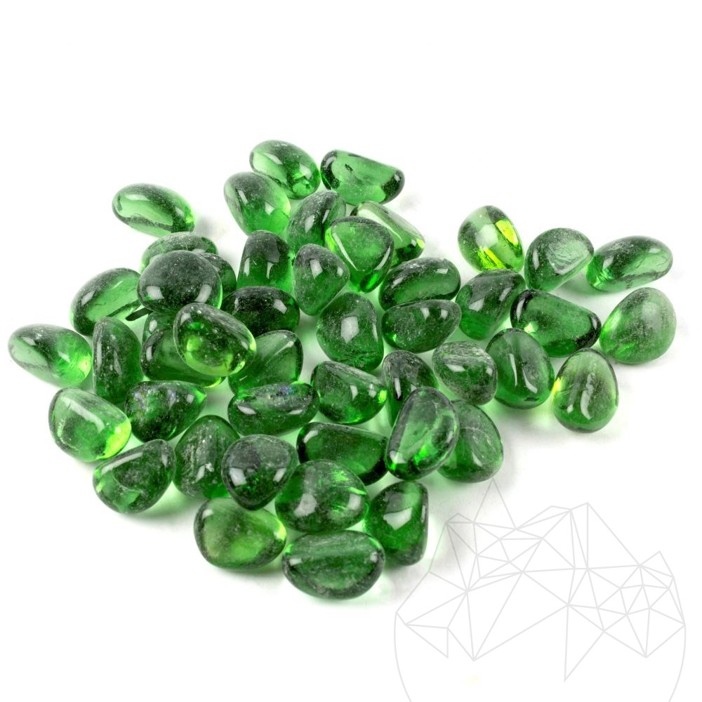 Green Glass Decorative Pebble Bag 1 KG