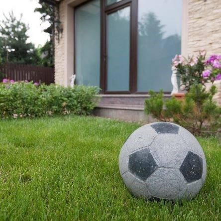 Padang Dark Granite Soccer Ball 25 cm - Garden Decoration