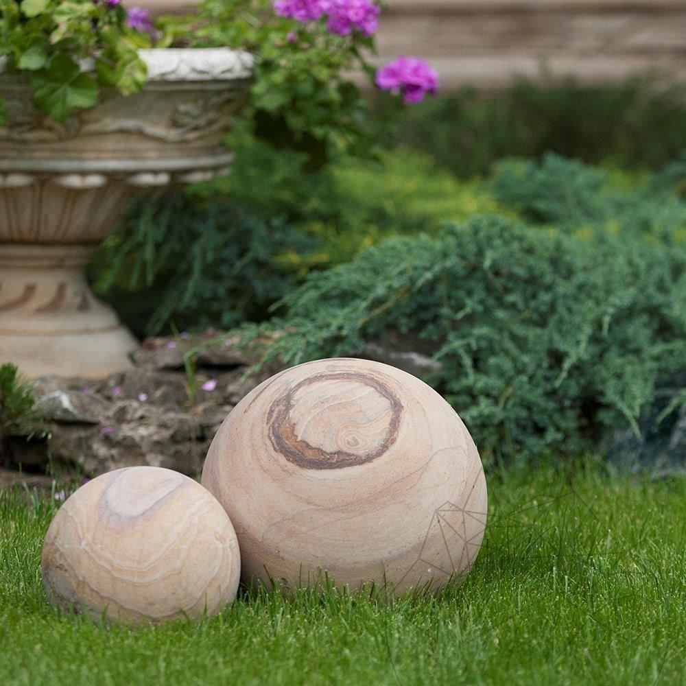 Rainbow Sandstone Decorative Sphere 20 cm