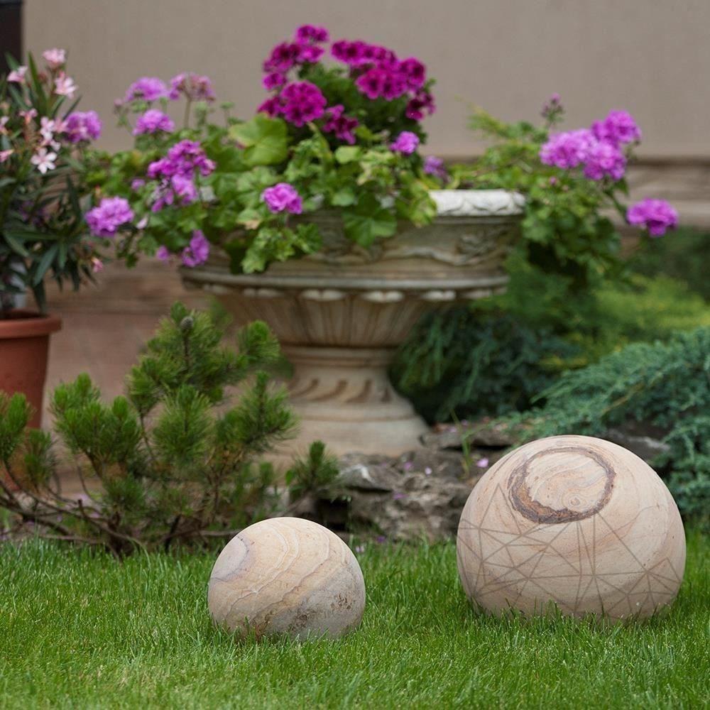 Rainbow Sandstone Decorative Sphere 30 cm