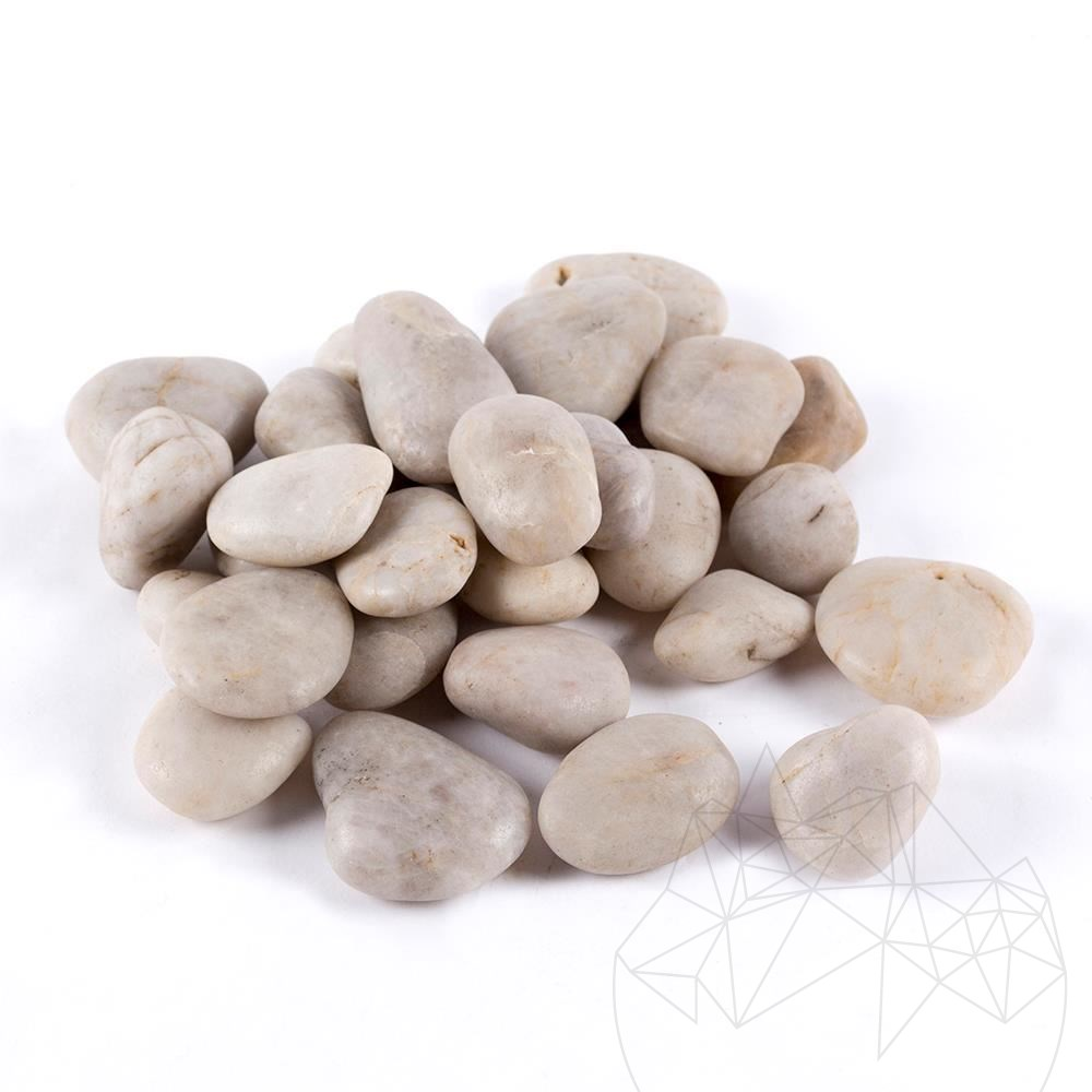 White Polished Pebble Bag 20 KG