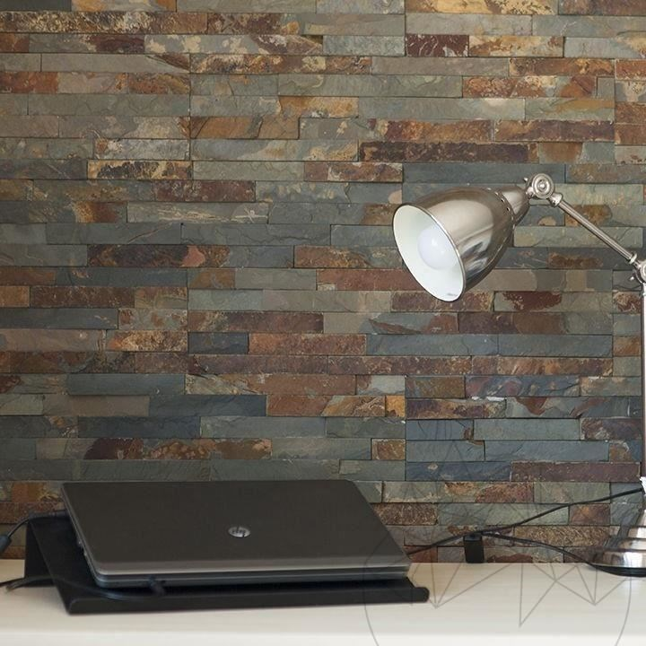 Multi Slate Wall Cladding Panel 15 x 60 cm