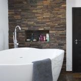 Brown Slate Wall Cladding Panel 15 x 60 cm