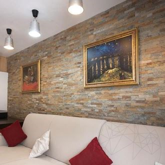 Bronze Quartzite Wall Cladding Panel 15 x 60 cm