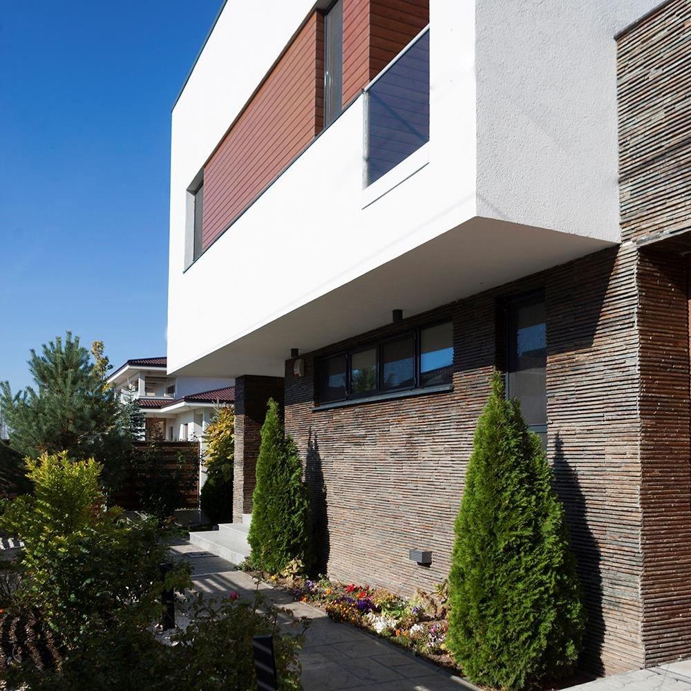 Multi slate stripes wall cladding panel 15 x 60 cm - Exterior cladding cost comparison ...