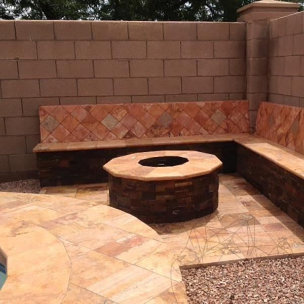 Peach Cross Cut Tumbled Travertine 15 x 15 x 3 cm title=Peach Cross Cut Tumbled Travertine 15 x 15 x 3 cm